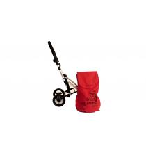 Сумка-тележка Carlett хозяйственная на колесах 40 л красная (450-2)