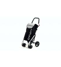 Сумка-тележка Carlett Premium хозяйственная на колесах 40 л черная (460-1)