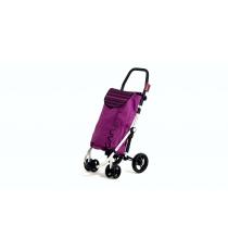 Сумка-тележка Carlett Premium хозяйственная на колесах 40 л лиловая (460-3)