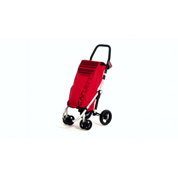 Сумка-тележка Carlett Premium хозяйственная на колесах 40 л красная (460-2)