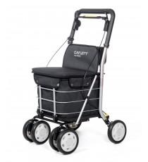 Сумка-тележка Carlett Comfort с сиденьем на колесах 29 л черная (800-5)