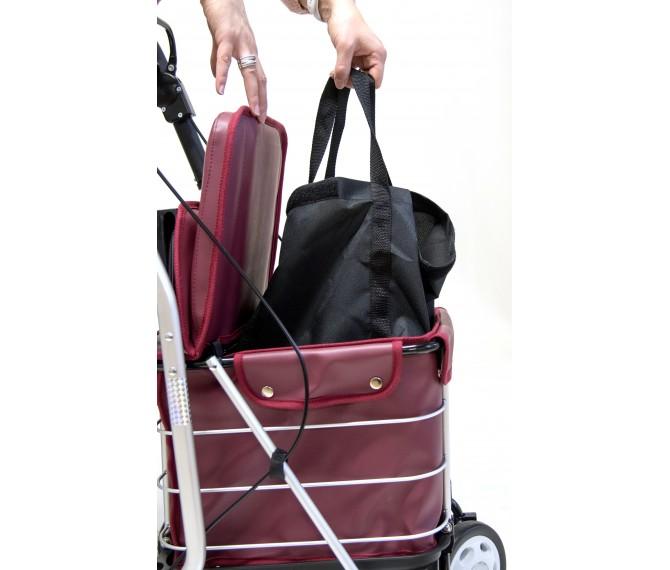 436f9960d2ae Сумка-тележка Carlett Comfort с сиденьем на колесах 29 л красная (800-6